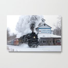 Polar Express! Pere Marquette 1225 Steam Engine Metal Print