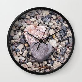 Stone hearts color version NS01A Wall Clock