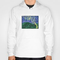 lanterns Hoodies featuring Impressionist Lanterns by Kimberly Castello