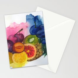 fruity stillife in watercolor Stationery Cards