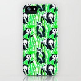 Painted Pandas iPhone Case