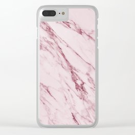 Cremona Rosa - pink marble Clear iPhone Case