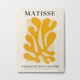 Sun Leaf 2: Matisse Edition | Mid Century Series Metal Print