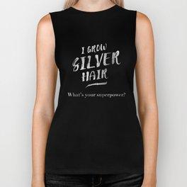 Silver Hair Superpower Biker Tank