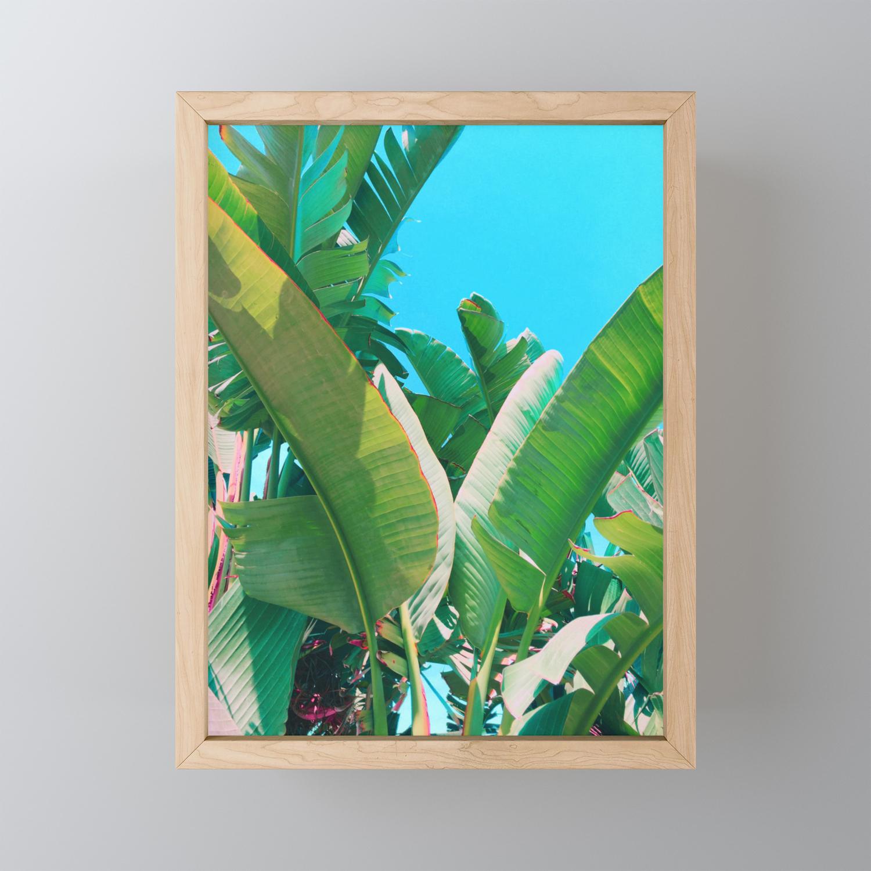 Pop Art Banana Leaf Framed Mini Art Print By Hillarymurphy Society6