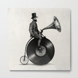 Music Man (monochrome option) Metal Print