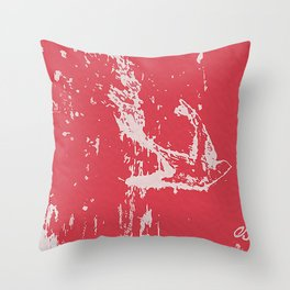 Fly Free (Red) Throw Pillow