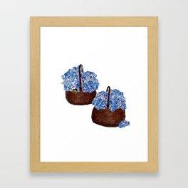 Two Baskets of Hydrangea Love Framed Art Print