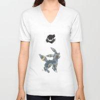 umbreon V-neck T-shirts featuring Evolution: Dark by David Flamm