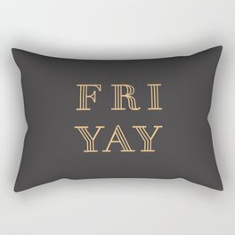 Fri Yay Modern Minimalist Lettering Typography Quote Rectangular Pillow