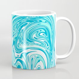 Blue Pastel abstract marble Coffee Mug