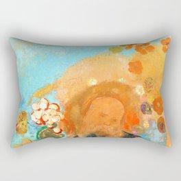 """Odilon Redon """"Evocation of Roussel"""" Rectangular Pillow"""