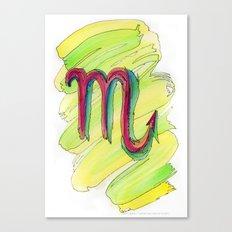 Scorpio Flow Canvas Print