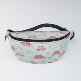 Little cute baby crab ocean life kids pattern Fanny Pack