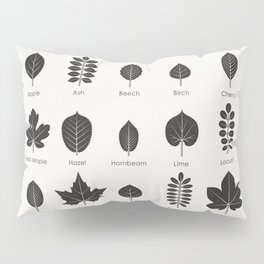 European Tree Leaves Pillow Sham