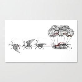 Steampunk Santa or Ferrous Father Christmas Canvas Print