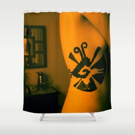 Mayan Life in Jamaica Shower Curtain