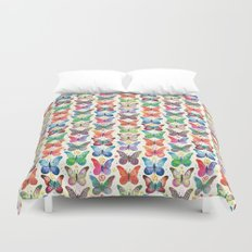 Colorful Butterflies Duvet Cover