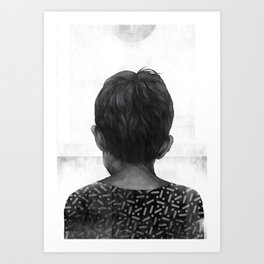 Boy and the Sun Art Print