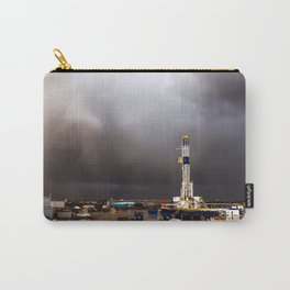 Oil Rig - Storm Passes Behind Derrick in Central Oklahoma Carry-All Pouch