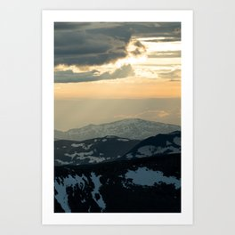 Glacial Heights II Art Print
