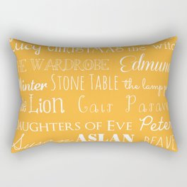 Narnia Celebration - Marigold Rectangular Pillow
