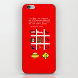 Red Party iPhone Skin