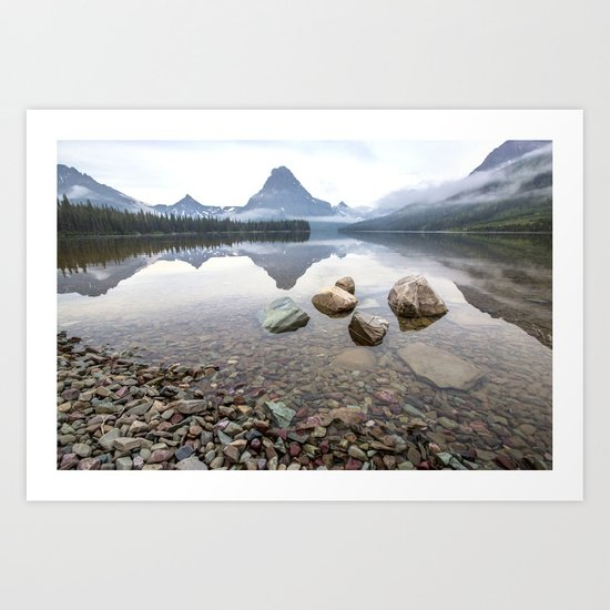 Rocky Lake Mountains Art Print