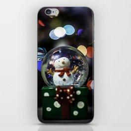 snow sphere iPhone Skin