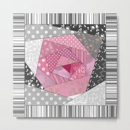 Needlework 1 . Patchwork. Roses. Metal Print