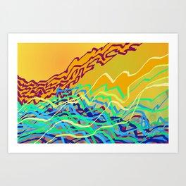 Coastal Frequencies 2 Art Print