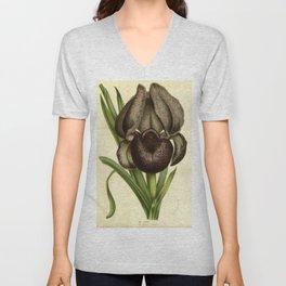 Black Iris Unisex V-Neck
