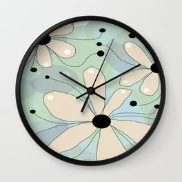 FLOWERY ASTA  / ORIGINAL DANISH DESIGN bykazandholly Wall Clock