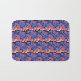 Pink blue waves pattern Bath Mat
