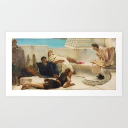 A Reading by Sir Lawrence Alma-Tadema Art Print