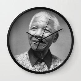Nelson Mandela Portrait Wall Clock