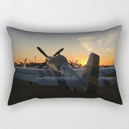 P-51 Sunset Rectangular Pillow