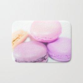 Macaroons pink peach lavender Bath Mat