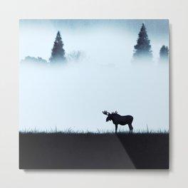 The moose - minimalist landscape Metal Print