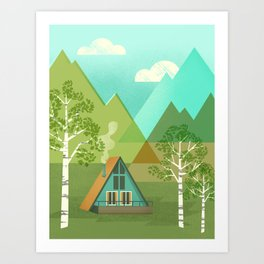 Three Birch Way Art Print