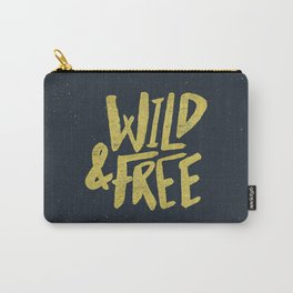 Wild and Free x Gold and Navy Carry-All Pouch