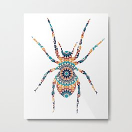 SPIDER SILHOUETTE WITH PATTERN Metal Print