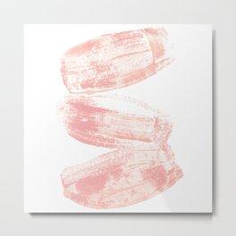 Stacked Pink Brushstrokes Metal Print
