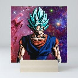 Vegeto super sayan blue Mini Art Print