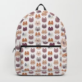 Cute Kitty Cat Faces Pattern Backpack