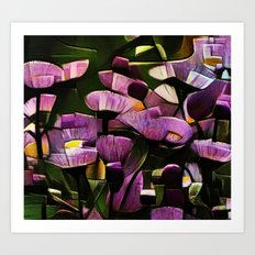 Abstract Wldflowers Art Print