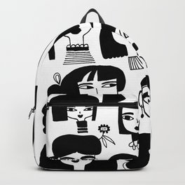 GIRLS AND ONE CAT Backpack