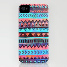 PATTERN {Tribal Stripe- Aqua} iPhone (4, 4s) Slim Case