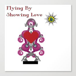 Flying By Showing Love Canvas Print