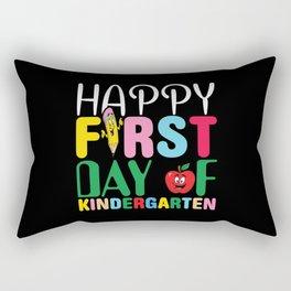 Happy First Day Of Kindergarten Rectangular Pillow